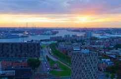 View of night Rotterdam Royalty Free Stock Photo