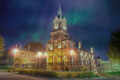 View of the  night in Vladimir. View of thE night in the city of the Golden ring Vladimir