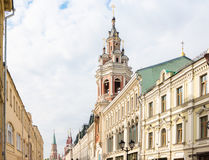View of Nikolskaya street in Moscow, Russia Royalty Free Stock Photography