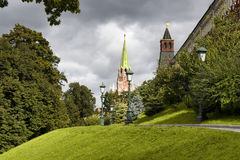 View of Nikolskaya Tower Stock Photography
