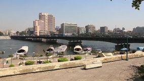 Nile river at Cairo - Egypt - video full HD 1080 stock footage