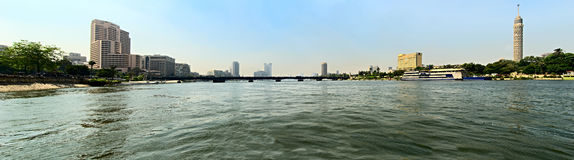 View from a Nile River. Kairo. Royalty Free Stock Images