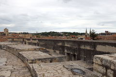 View of Nimes from Roman Amphitheater, France Royalty Free Stock Image