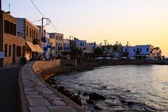 Summer sunset on the volcanic island of Nisyros stock photos