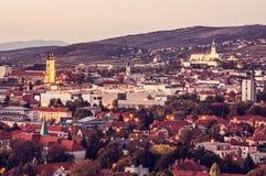 Nitra city, Slovakia, evening urban scene, red filter royalty free stock photos