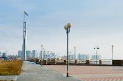 View of Nizhnevartovsk in the waterfront Royalty Free Stock Image