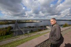 View of Nizhny Novgorod with Oka and Volga rivers Stock Photos