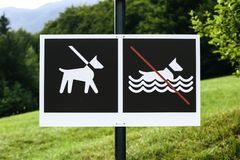 No dog bathing sign