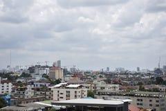 View of Nonthaburi city from MRT Purple Line skytrain Stock Photo