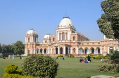 View of Noor Mahal Palace at daytime. In Bahawalpur Pakistan Stock Photo
