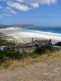 View of Noordhoek Beach from Chapman's Peak road in Cape Town, South Africa Stock Images
