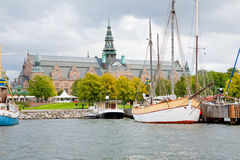 View on Nordic Museum from sea side, Stockholm Stock Image