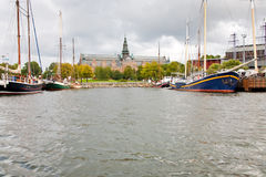 View on Nordic Museum from sea side, Stockholm Royalty Free Stock Images