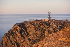 View of Nordkapp, the North Cape, Norway, the northernmost point of mainland Norway and Europe. Finnmark County Royalty Free Stock Image
