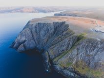 View of Nordkapp, the North Cape, Norway, the northernmost point of mainland Norway and Europe. Finnmark County Stock Images