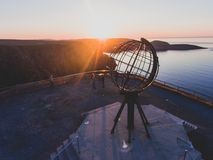 View of Nordkapp, the North Cape, Norway, the northernmost point of mainland Norway and Europe. Finnmark County Stock Photo