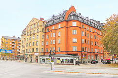 View of Norra Stationsgatan street in Stockholm, Sweden Stock Images