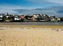 Northern Ireland beach. View of the north beach in Northern Ireland stock photos
