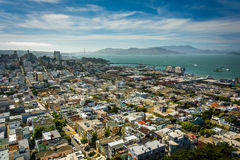 View of North Beach and the San Francisco Bay  Stock Photos