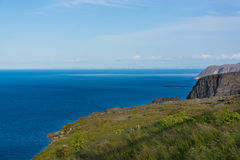 View from North Cape to the ocean Royalty Free Stock Photo