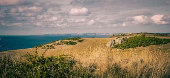A view of the north coast of Cornwall stock photography