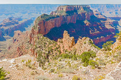 View From The North Rim Of The Grand Canyon Royalty Free Stock Photos