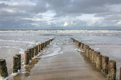 View of the North Sea. Domburg beach, Zeeland, The Netherlands Stock Image