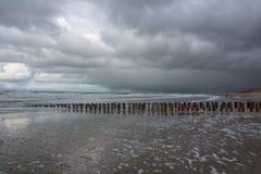 View of the North Sea. Ernstige Noordzee tijdens een storm Stock Image