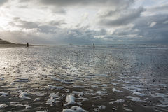 View of the North Sea. North Sea in the southern province of Zeeland is one of the most beautiful places in the Netherlands Royalty Free Stock Photography