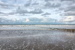 View of the North Sea. View of the sea during a storm Royalty Free Stock Photos