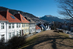 Bergen city. View from the north side of Bergen city in Norway Stock Photography