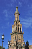 North Tower at The Plaza de Espana (Spain Square), Seville, Spai Royalty Free Stock Image