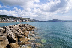 View from The North Wall - Lyme Regis Stock Photo