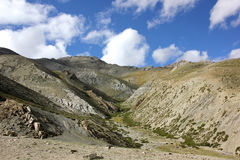 View North-West of Ganda-la high base camp Stock Photography