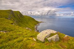 View of northcape of Runde Fyr island Stock Image