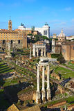 View on the northeast end of Roman forum Royalty Free Stock Photography