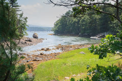 View of Northeast Harbor. In Bar Harbor, Maine Stock Photos
