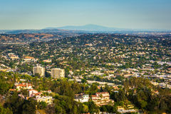 View of Northeast Los Angeles from Griffith Observatory, in Los. Angeles, California Royalty Free Stock Images