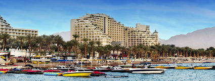 View on the northern beach of Eilat, Israel Stock Photo