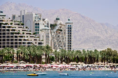 View on northern beach of Eilat, Israel Stock Photo