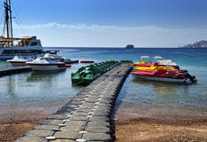 View on northern beach of Eilat, Israel Stock Image