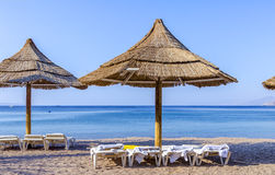 View on the northern beach of Eilat Royalty Free Stock Photo