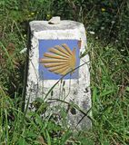 Camino de Santiago Route Marker Stock Photos