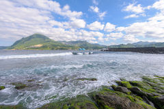 View of the northern coast in taiwan Royalty Free Stock Photography