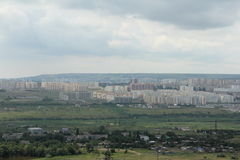 View of the northern part of the city of Saratov from height of 199 meters Royalty Free Stock Images