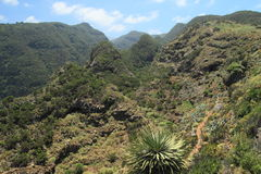 View on the northern part of La Palma, Canary Isla Royalty Free Stock Photos