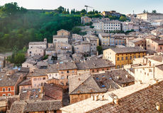 View of the Northern Part of Urbino. Italy Stock Photo