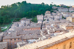 View of the Northern Part of Urbino. Italy Stock Images