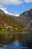 View in norwegian fjord Stock Image