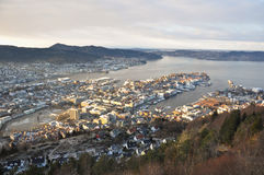 View of Norwegian fjord. Royalty Free Stock Photography
